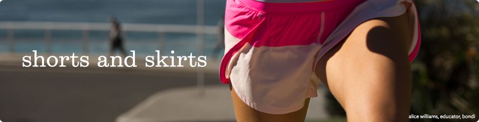 womens shorts and skirts